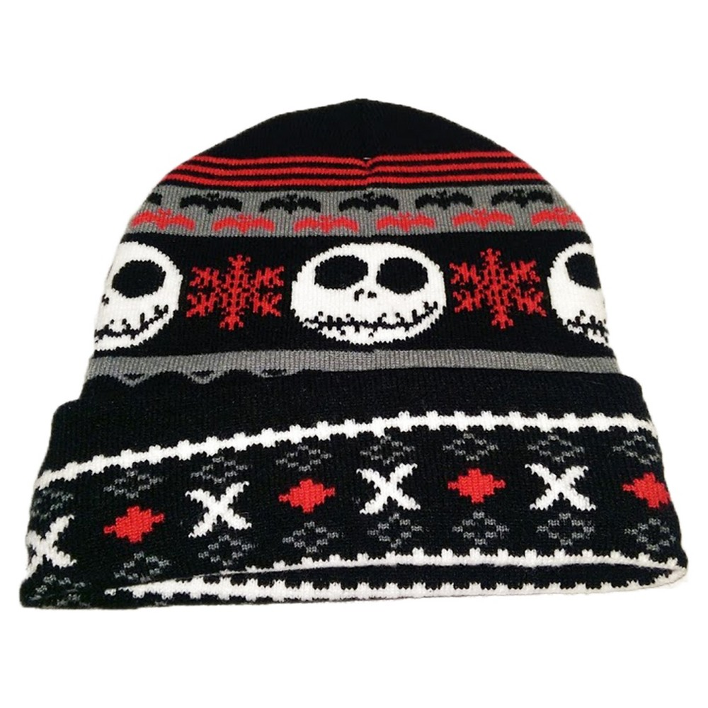 47990f09f3e Nightmare Before Christmas Jack Cuff Knit Hat
