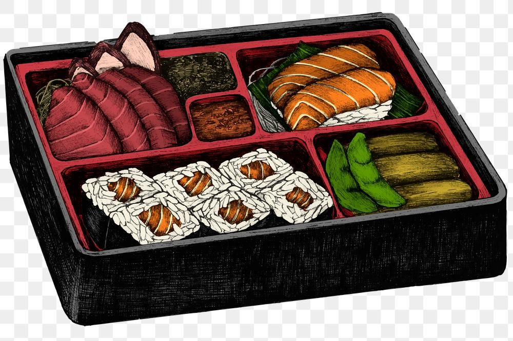 Colorful Japanese Bento Png Sticker Lunch Box Premium Image By Rawpixel Com Noon Japanese Bento Lunch Box Japanese