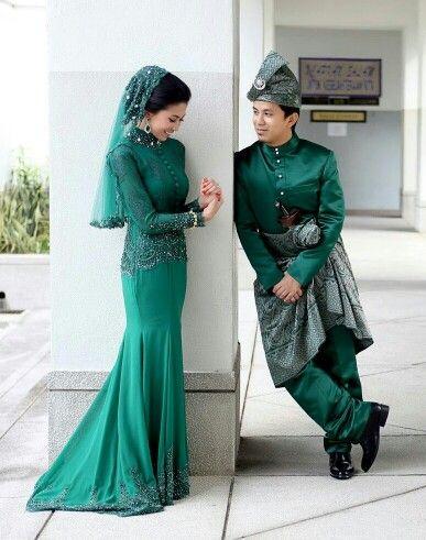 Hijau Zamrud Wedding Dresses Wedding Dressses Malay Wedding