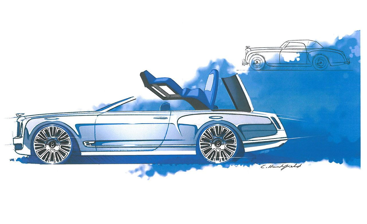 Bentley Mulsanne Convertible Concept Sketches Revealed