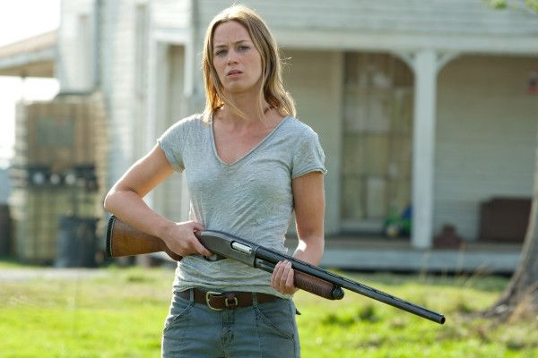 Emily Blunt as a badass mama in Looper. Is what I'm ...