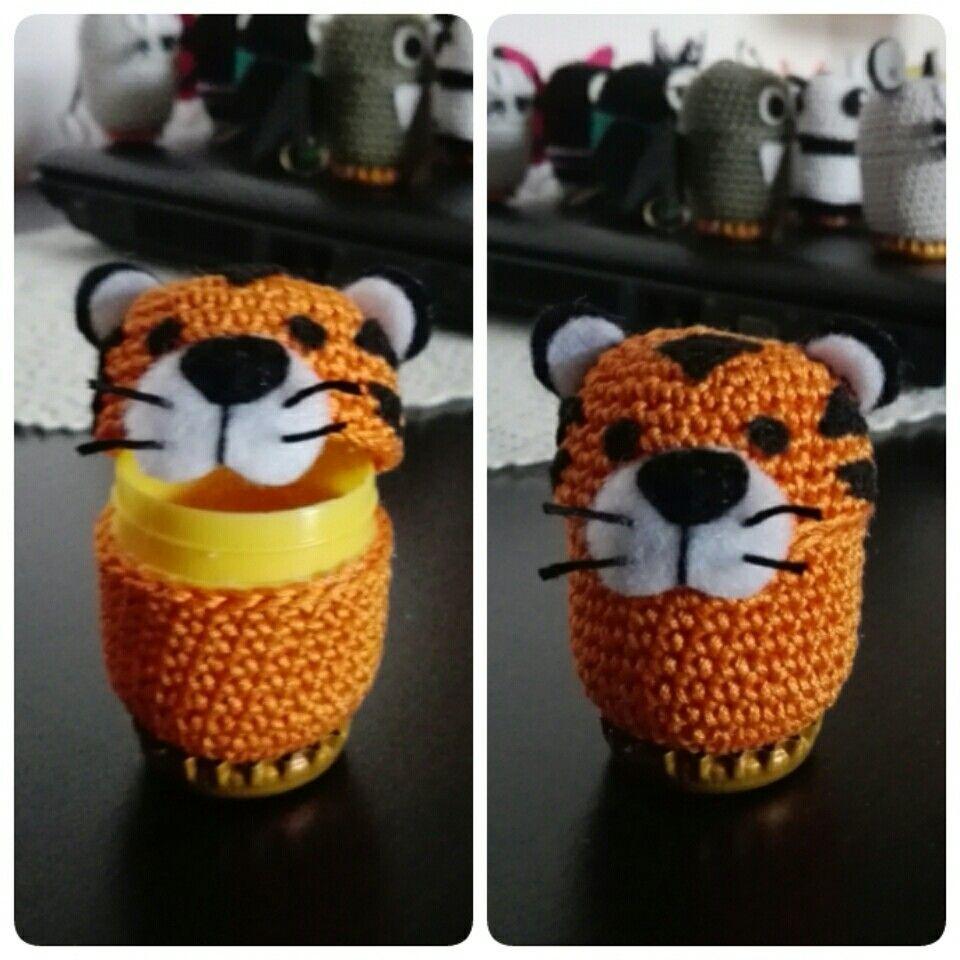 Ovetti kinder amigurumi tigre tiger | Easter | Pinterest ...