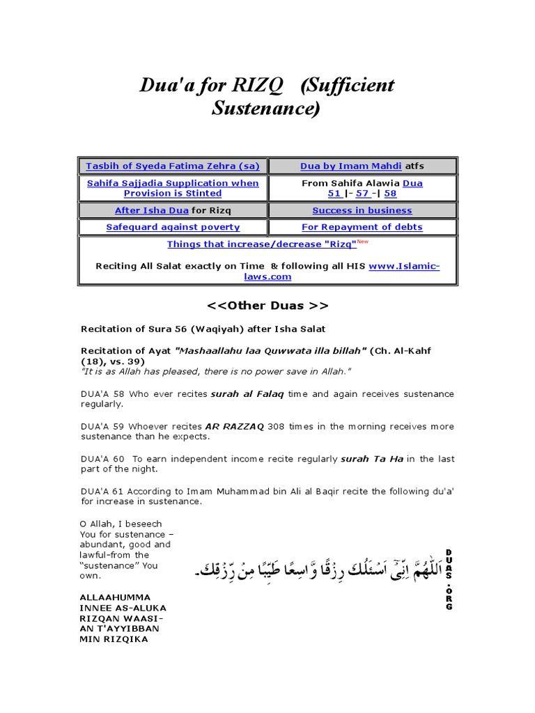 Islamic Dua To Increase Rizq Dua Dua For Success Islamic Dua