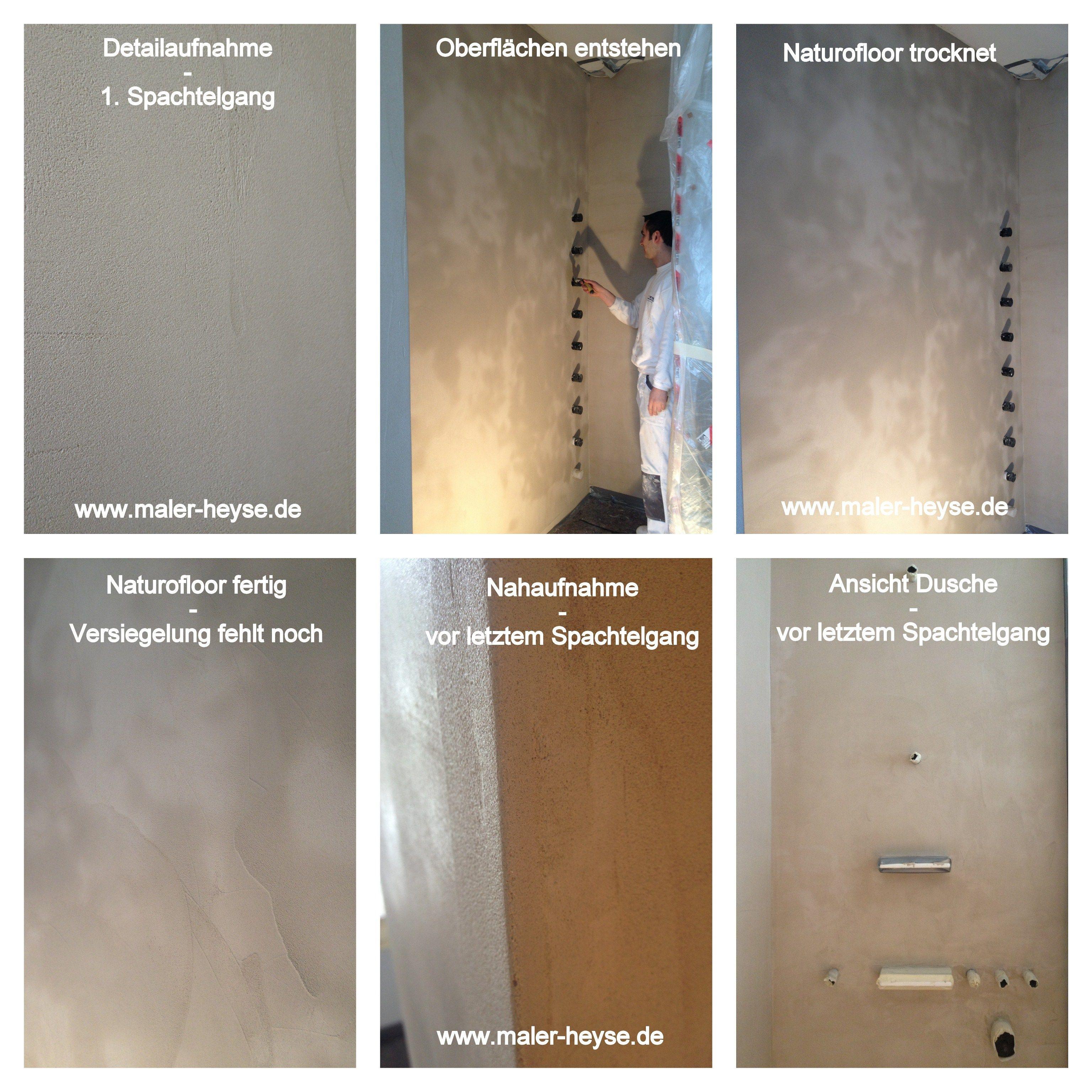 Naturofloor hannover fugenlose b den hannover entstehen for Badezimmer design hannover