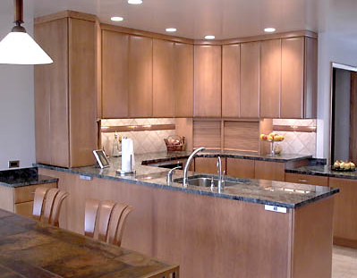 Incroyable Plain U0026 Fancy Kitchen Cabinetry With Quarter Sawn Cherry Door And Granite  Countertops.
