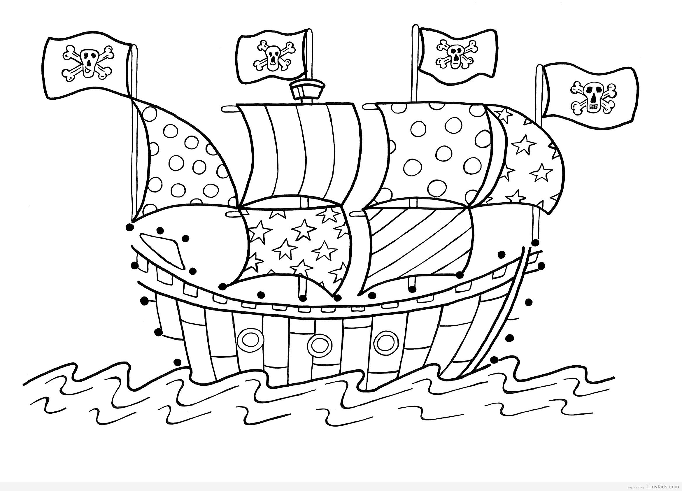 http://timykids.com/pirates-coloring-page.html | Colorings | Pinterest