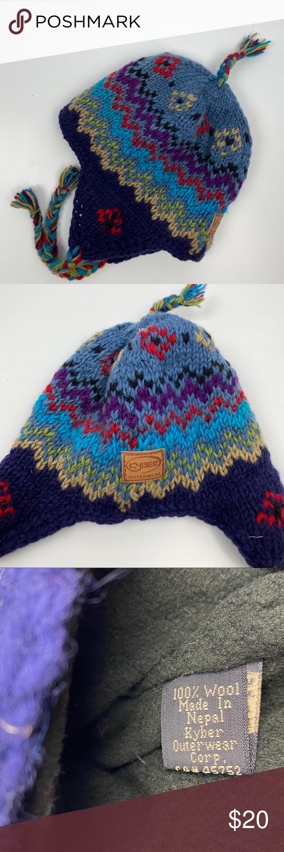 Woven Wool Fleece Lined Winter Hat Made In Nepal Winter Hats Hat Making Clothes Design [ 1740 x 580 Pixel ]