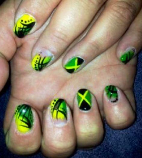 Jamaican Nail Designs Nail Designs Pinterest Nail Nail And Makeup