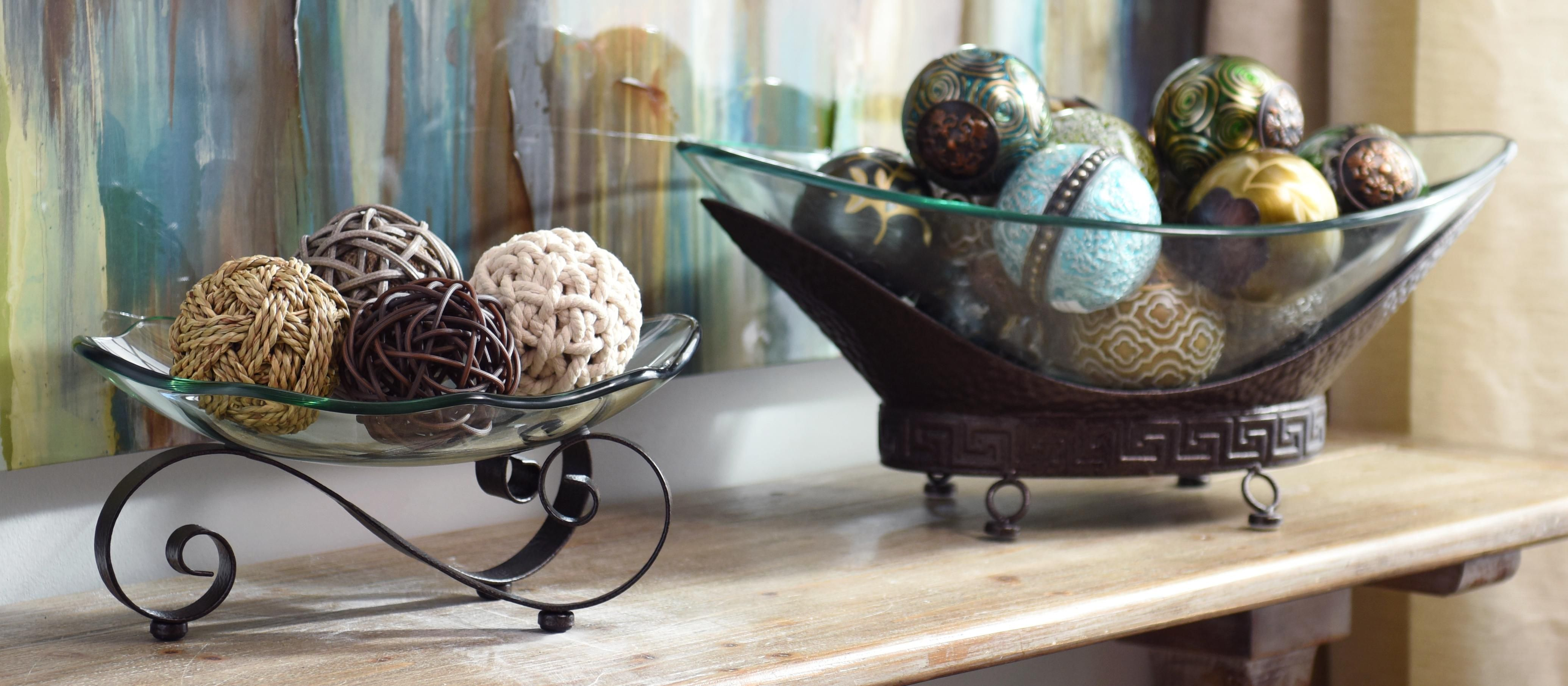 Discover decorative bowls and orbs that fit your home