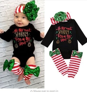 Cheap sparkly bodysuit, Buy Quality newborn clothing directly from China  baby girl clothes Suppliers: 2017 Christmas Baby Girl Clothes Set Sparkly  Bodysuit ... - ITS THE MOST SPARKLY TIME OF THE YEAR SET PRICE $12.99 OPTIONS: 0/6M