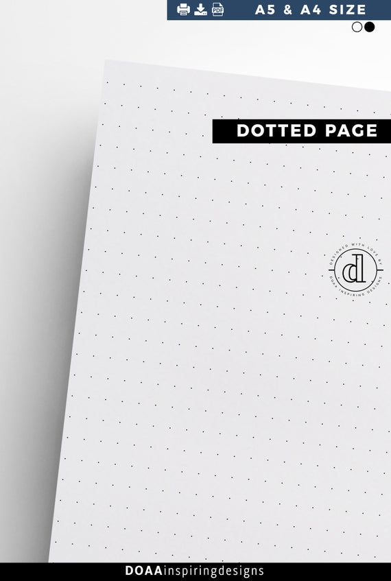 photograph relating to A5 Dot Grid Printable known as A5 Dot grid paper, Dot grid printable, dotted blank magazine