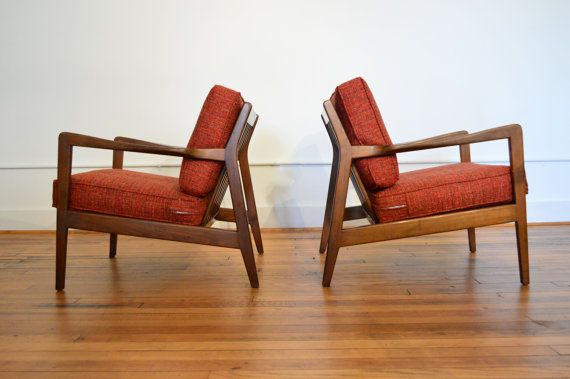 Attractive Dux Swedish Modern Lounge Chairs // Vintage Danish Modern Chairs Stylish  Walnut Frames With Convenient