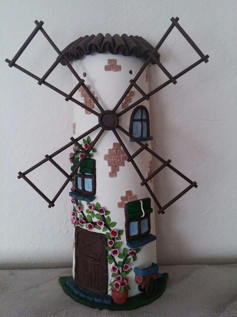 Kiremit Yel Değirmeni Duvar Süsü Kiremit Süsleme Wreaths Home