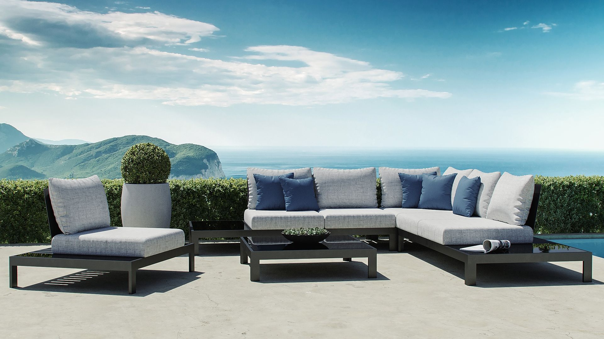 Valentino L Outdoor Lounge Mobel Lounge Mobel Moderne Lounge