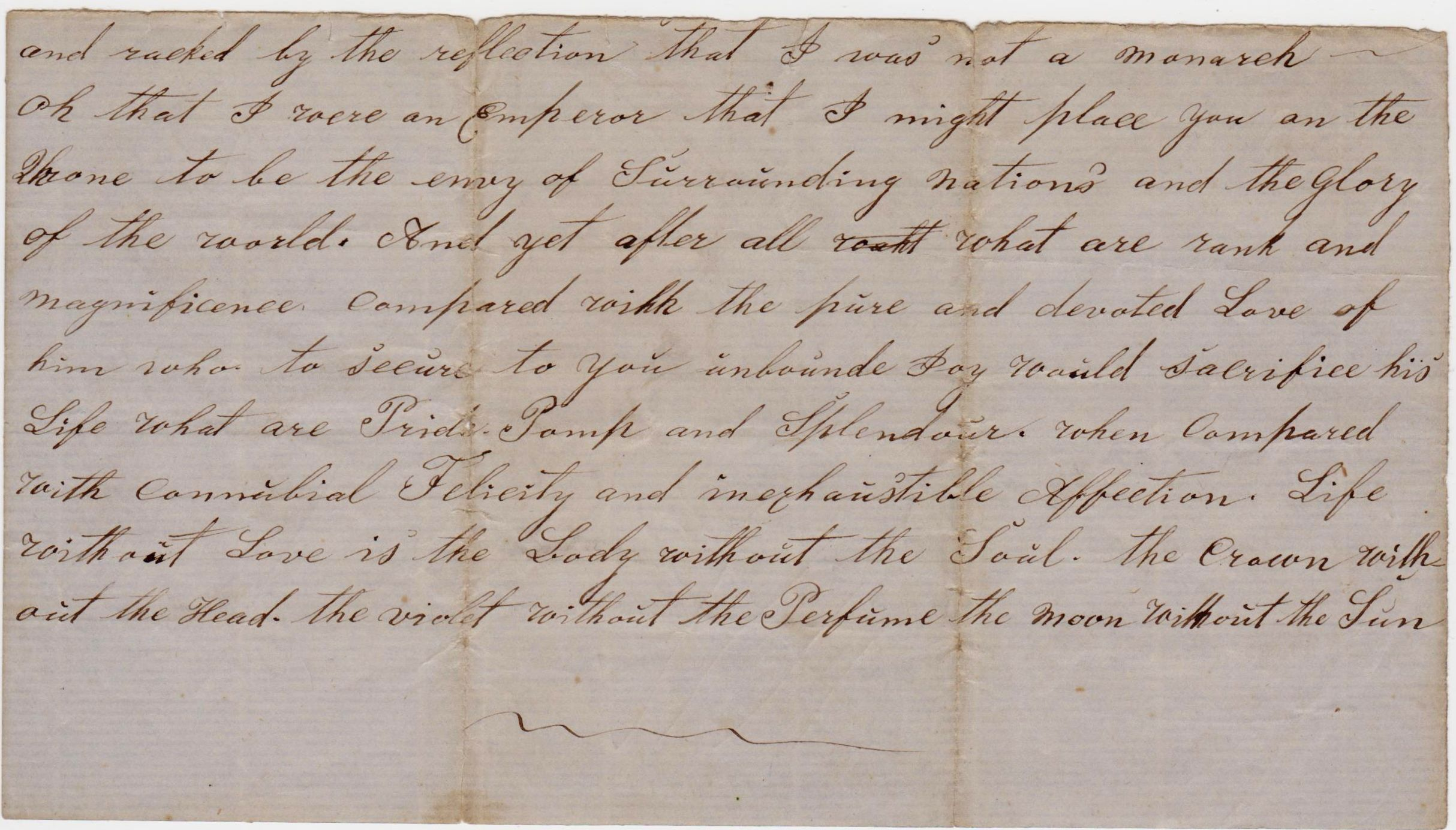 1a Love letter from husband Peter. Dear Mary Anne Larsen , dated 18 August, 1872. bottom of page 1.