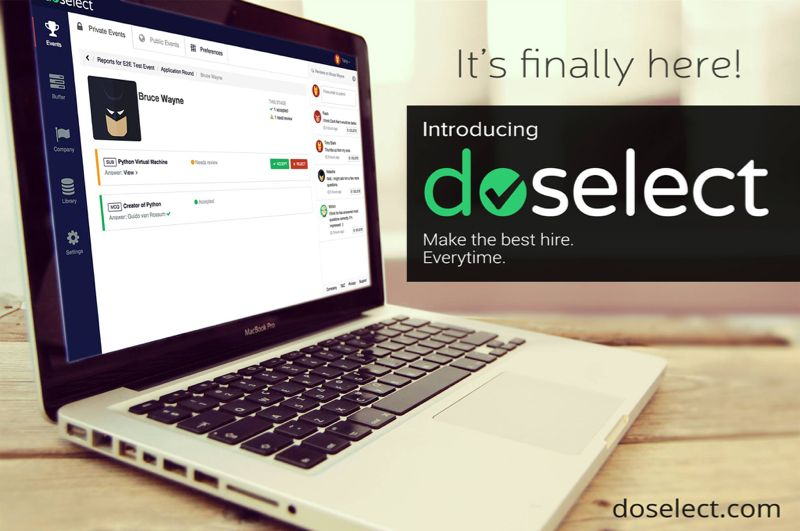 DoSelect enables tech teams to assess and hire the best talent on whatever technology or skill they need, effortlessly.
