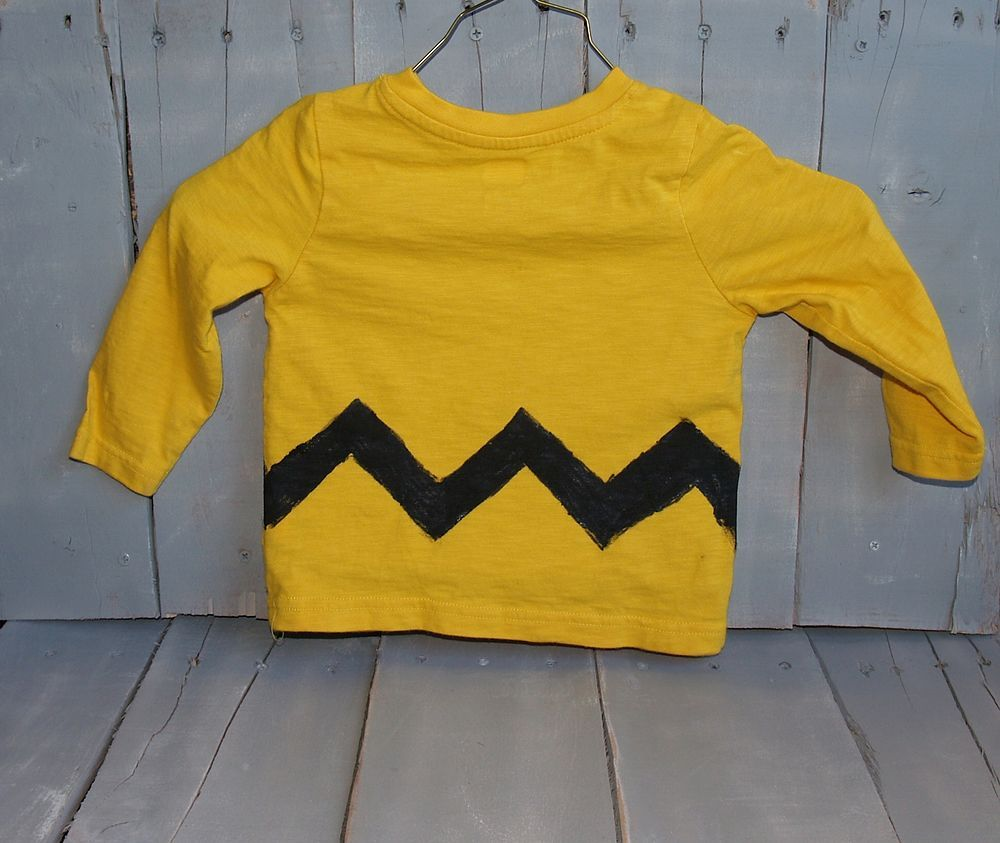 Quick Homemade Charlie Brown Shirt for Halloween | Charlie brown