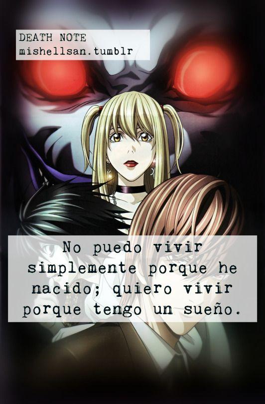 Inspiracion Anime Con Letra Pinterest Frases Death Note Y Anime