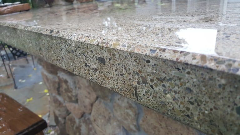 How To Make Professional Polished Concrete Countertops Backyard Water Garden Polished Concrete Countertops Polished Concrete Kitchen Outdoor Countertop