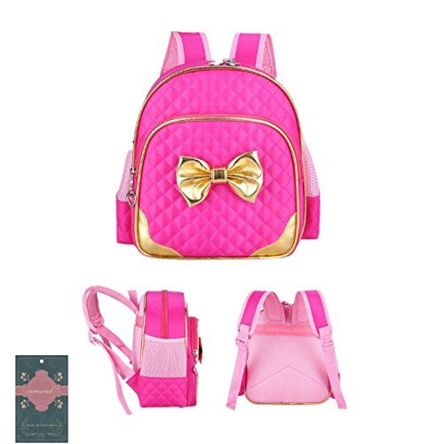 Moonwind Quilted Bow Waterproof Kindergarten Kids Backpack Girls ...