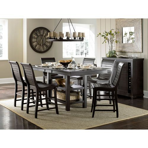 Willow Distressed Black Rectangle Counter Table Progressive Enchanting Pub Height Dining Room Sets Design Ideas