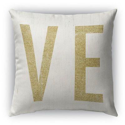 """Kavka VE Burlap Indoor/Outdoor Throw Pillow Size: 16"""" H x 16"""" W"""
