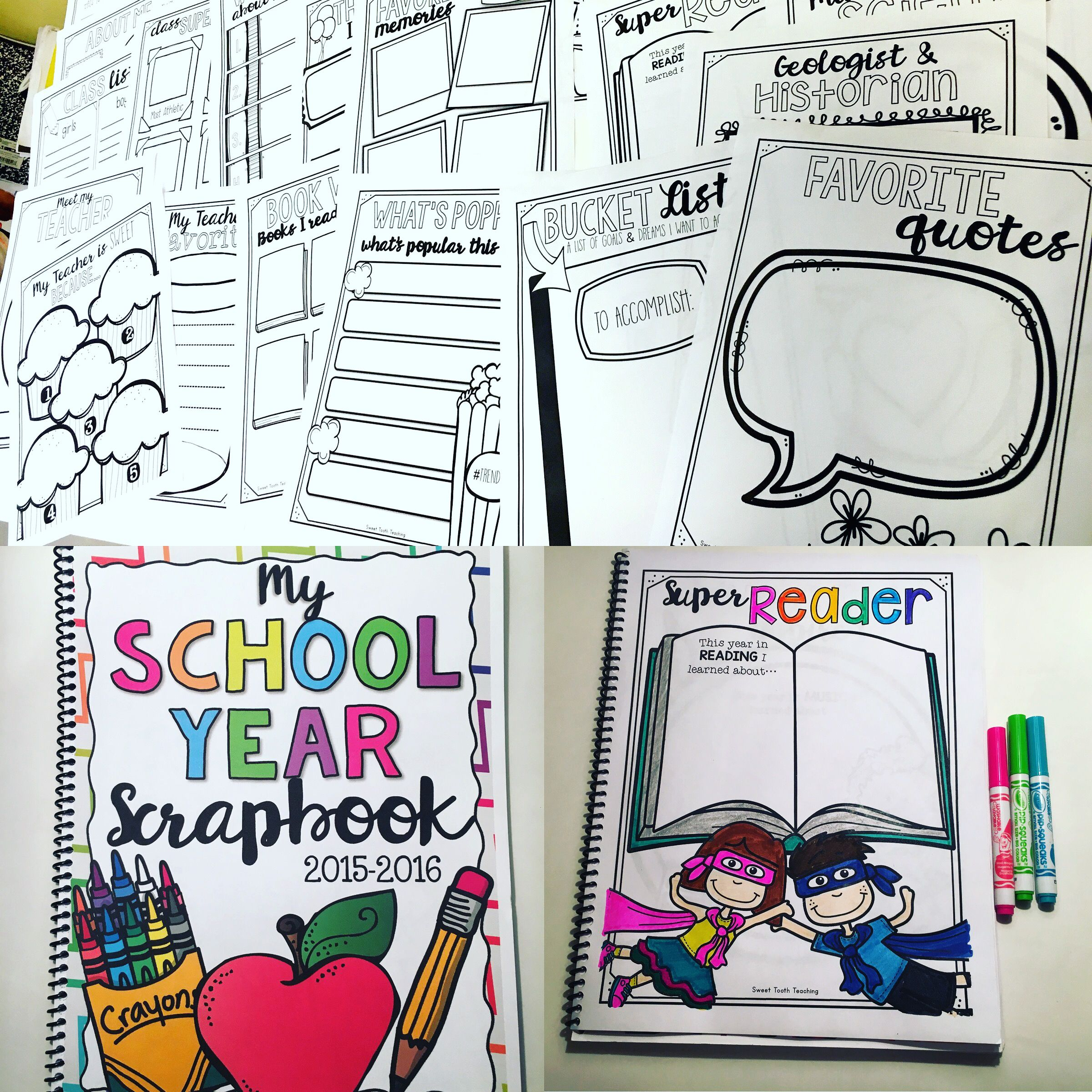 How to scrapbook school years - Scrapbook Includes Everything Your Students Need To Make Their School Year Memorable This 62