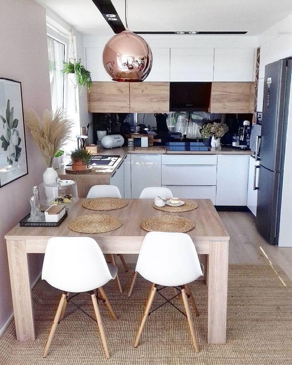 Fabulous Small Apartment Kitchen Decoration Ideas #apartmentkitchen