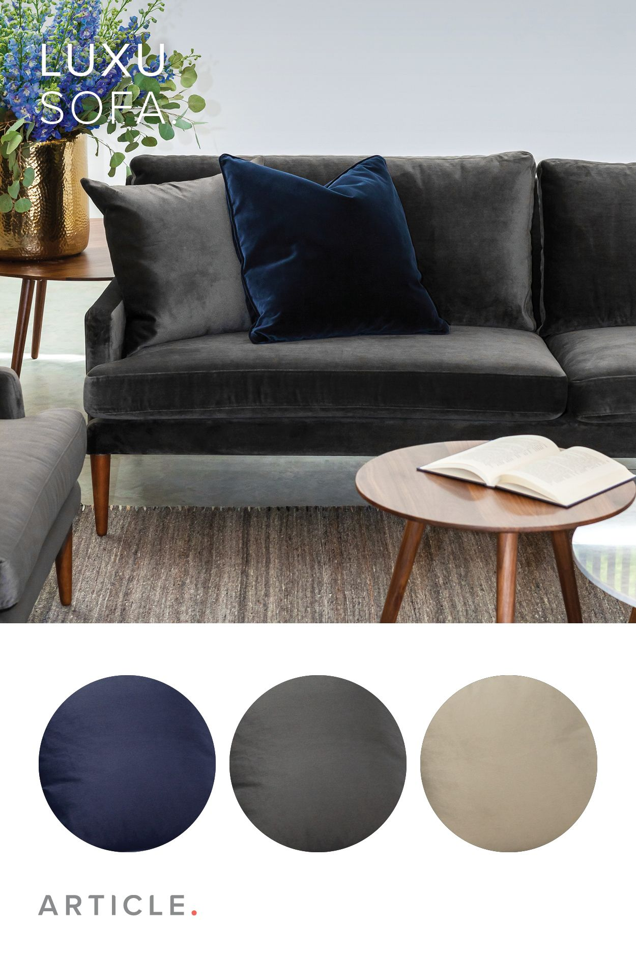 An Extra Deep Seat And Scattered Cushions Give The Luxu Sofa An Over The Top Cozy Feel Deep Sectional Sofa Living Room Sofa Cushions For Grey Sofa