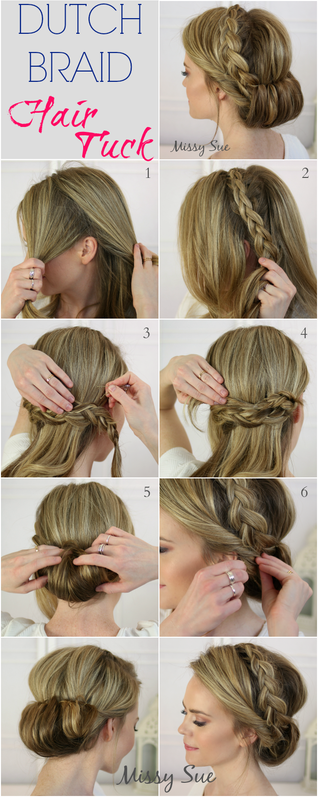 Dutch Headband Hair Tuck  MissySuecom  Womenus World  Pinterest