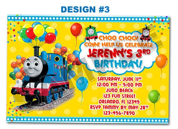 Thomas the tank train photo birthday party invitations printable thomas the tank train photo birthday party invitations printable filmwisefo Gallery