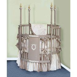 Victorian Dreams Round Crib Bedding Set With Images Round Crib