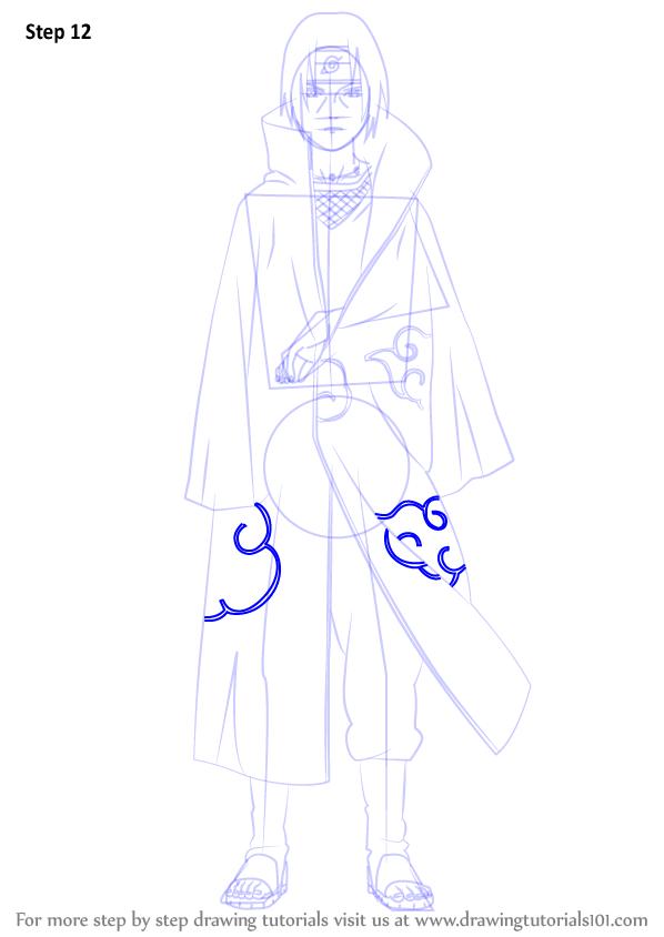 Learn How To Draw Itachi Uchiha From Naruto Naruto Step By Step Drawing Tutorials In 2021 Itachi Naruto Sketch Itachi Uchiha