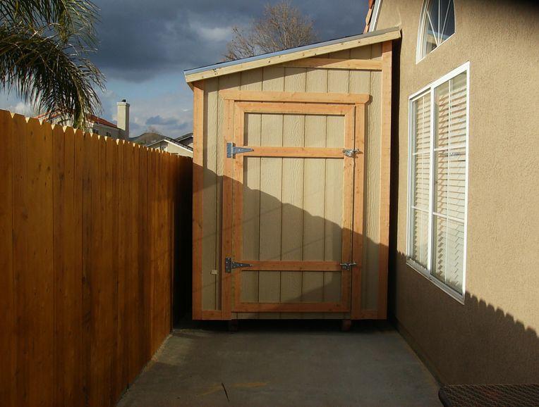 A Nice Way To Add Storage Space To A Side Yard New