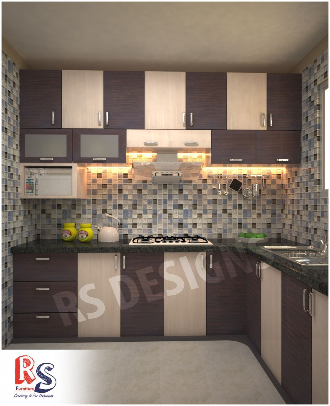 Indian Modular Kitchen Design In 2020 Kitchen Tiles Design