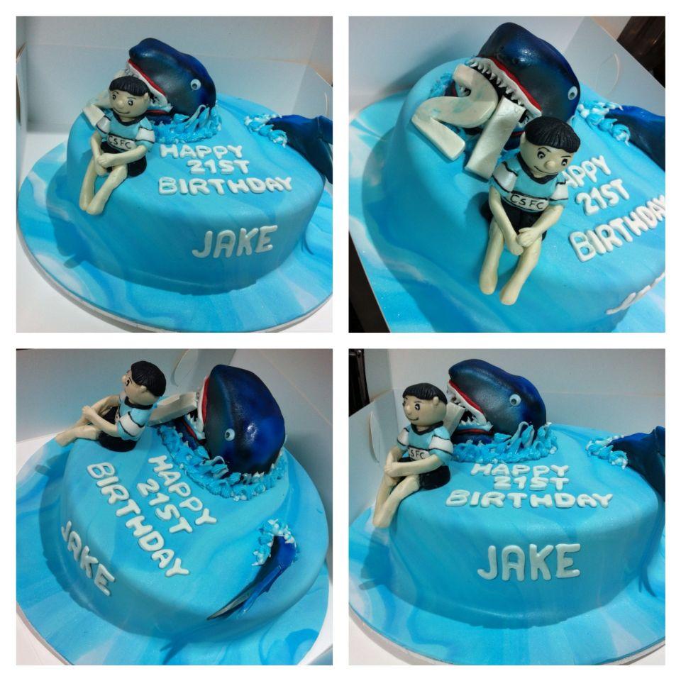 Cronulla sharks cake shark cake custom cakes cake