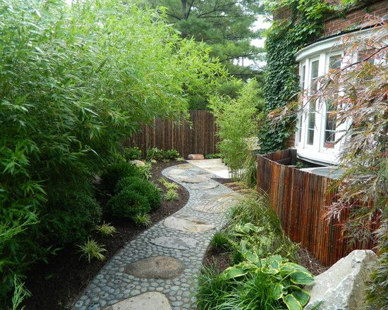 Asian Style Landscape Bamboo Trees Garden Design Ideas Stone Path