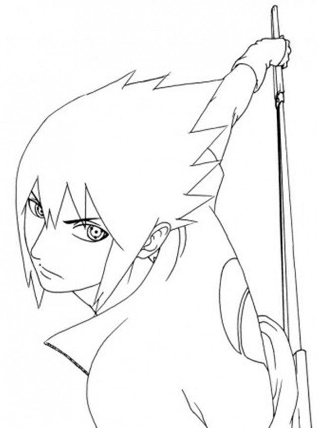 Contoh Gambar Gambar Naruto Hitam Putih Untuk Mewarnai