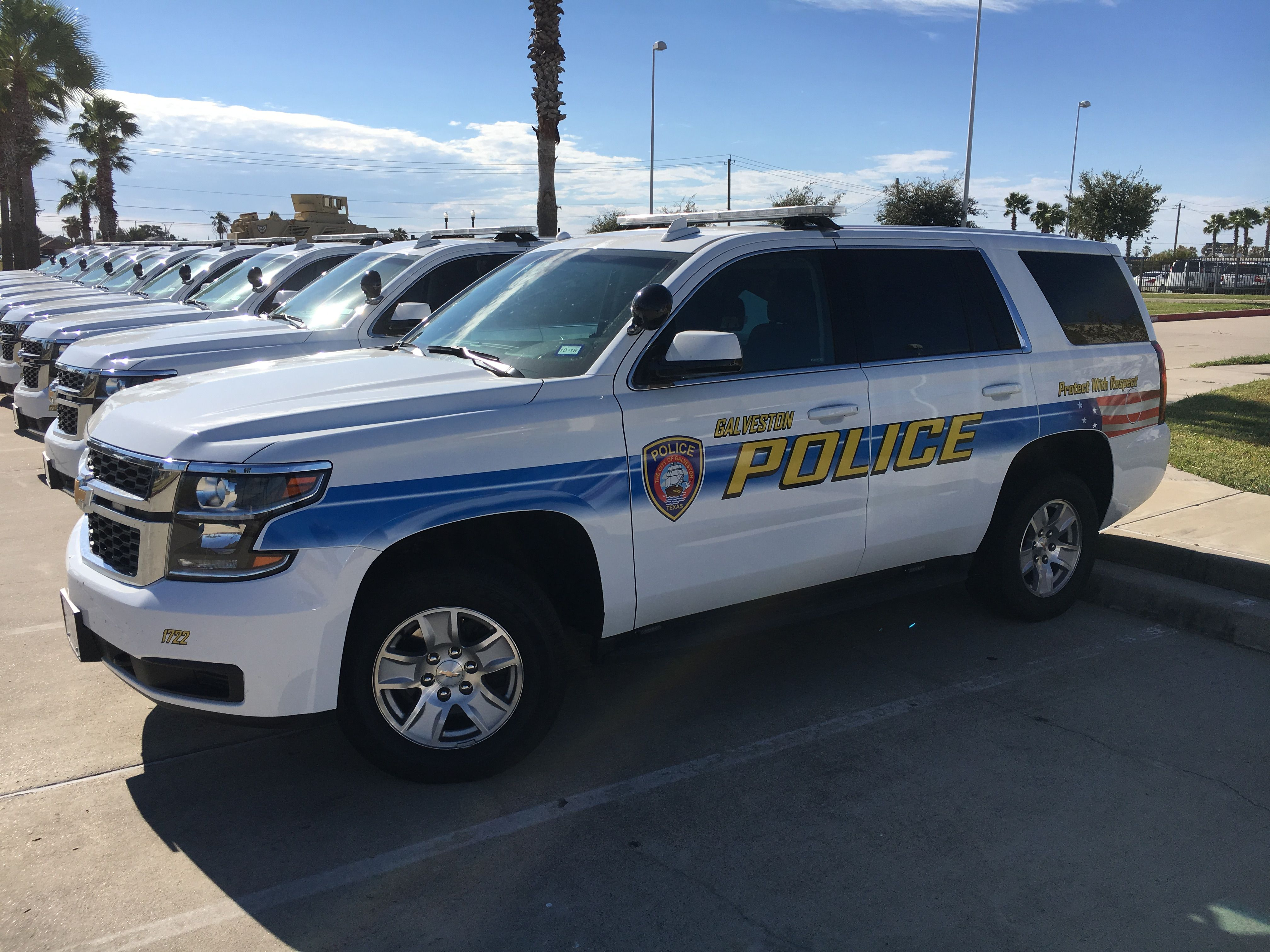 Galveston Police Department Chevy Tahoes Police Truck Police