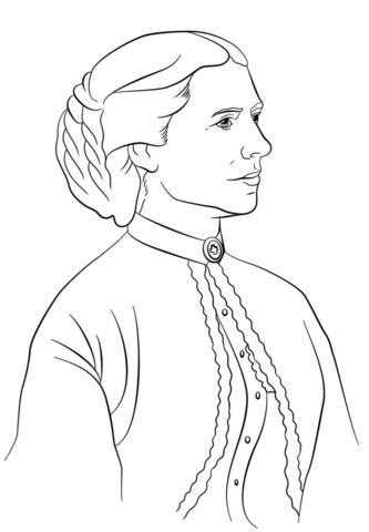 Clara Barton Coloring Page Free Printable Coloring Pages Coloring Pages Drawings Art Sketches