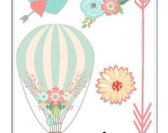 G014 aire caliente globo estilo 3 por LittleSurpriseShop en Etsy
