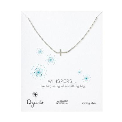 """Dogeared Whispers Sideways Cross Necklace, Sterling Silver - 18"""" - was $56.0, now $33.0 (41% Off). Picked by amyb @ Reeds"""
