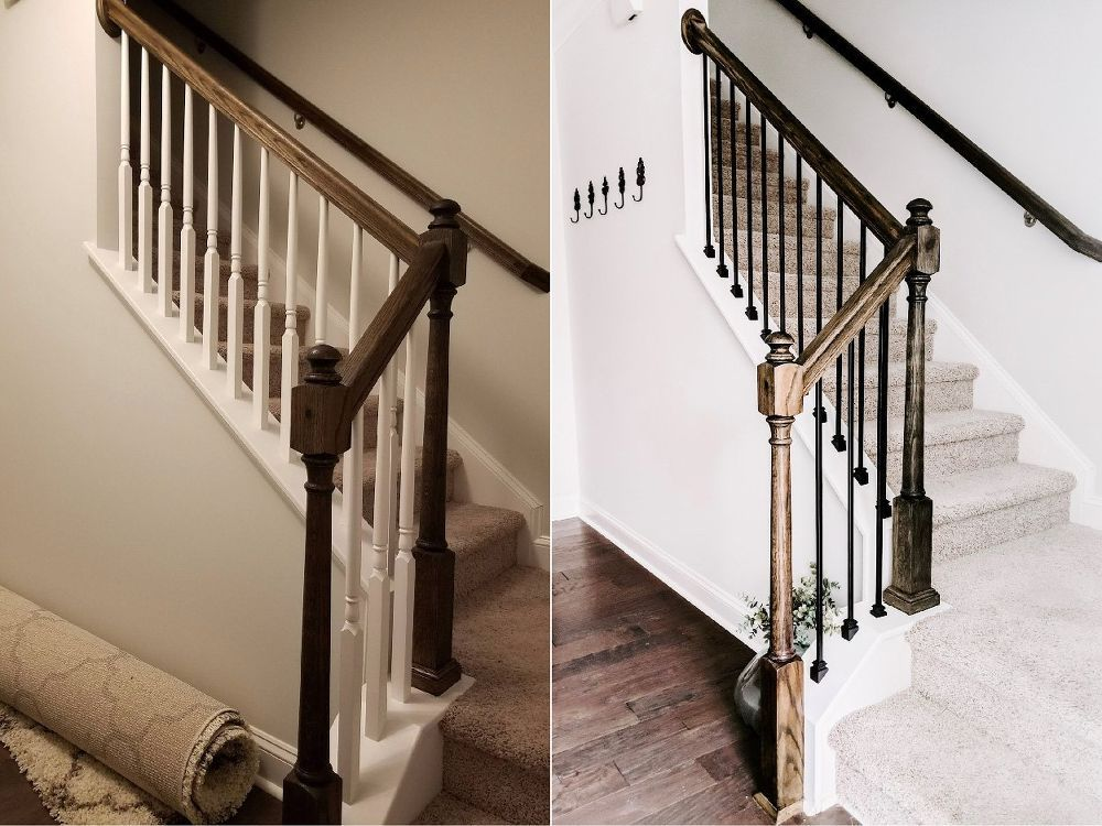 Best Replace Wood Stair Balusters With Iron Balusters Stairs 400 x 300