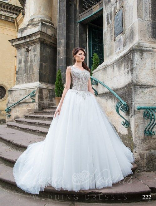 fd838d67b4 Wedding dress with transparent corset model 222 222 Suknia Ślubna