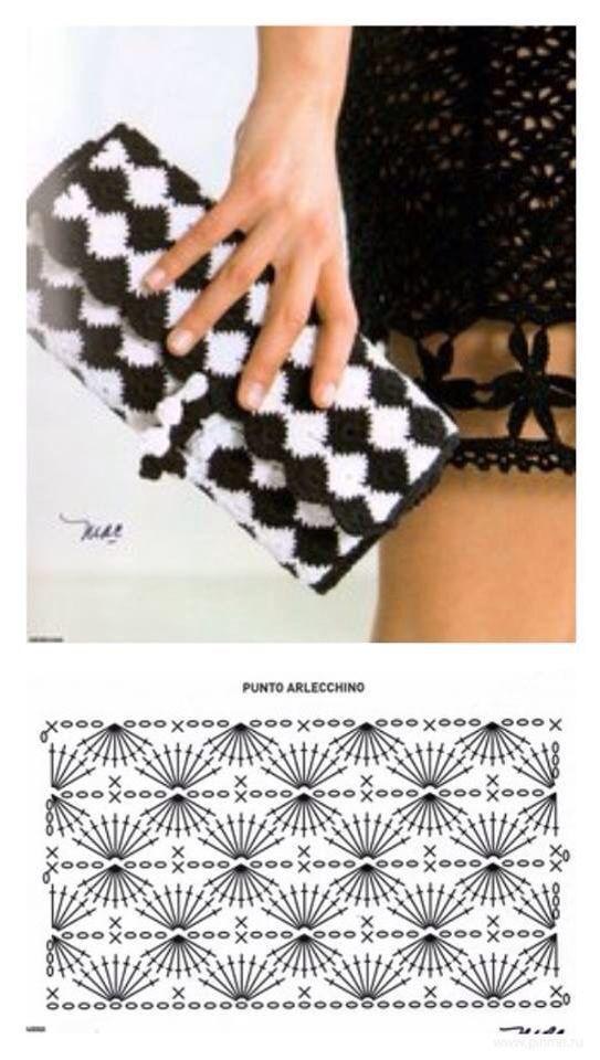 Patrón bolso de mano a crochet | Tejiendo a crochet, tricot, doble ...