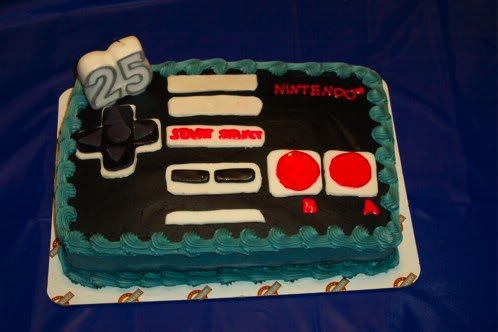 Birthday Cake Of Nintendo Controller Without Fondant
