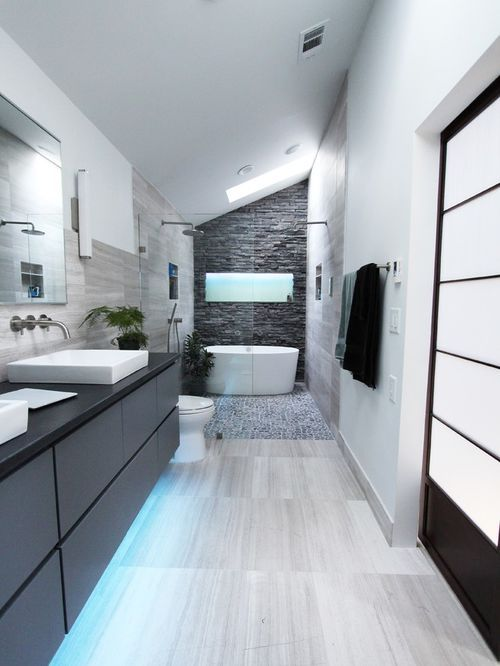 20 Refined Gray Bathroom Ideas Design and Remodel Pictures Painted