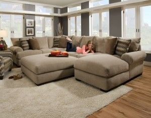 This weeku0027s #FeaturedFriday is the Baccarat Taupe #sectional - huge comfy and : taupe sectional - Sectionals, Sofas & Couches