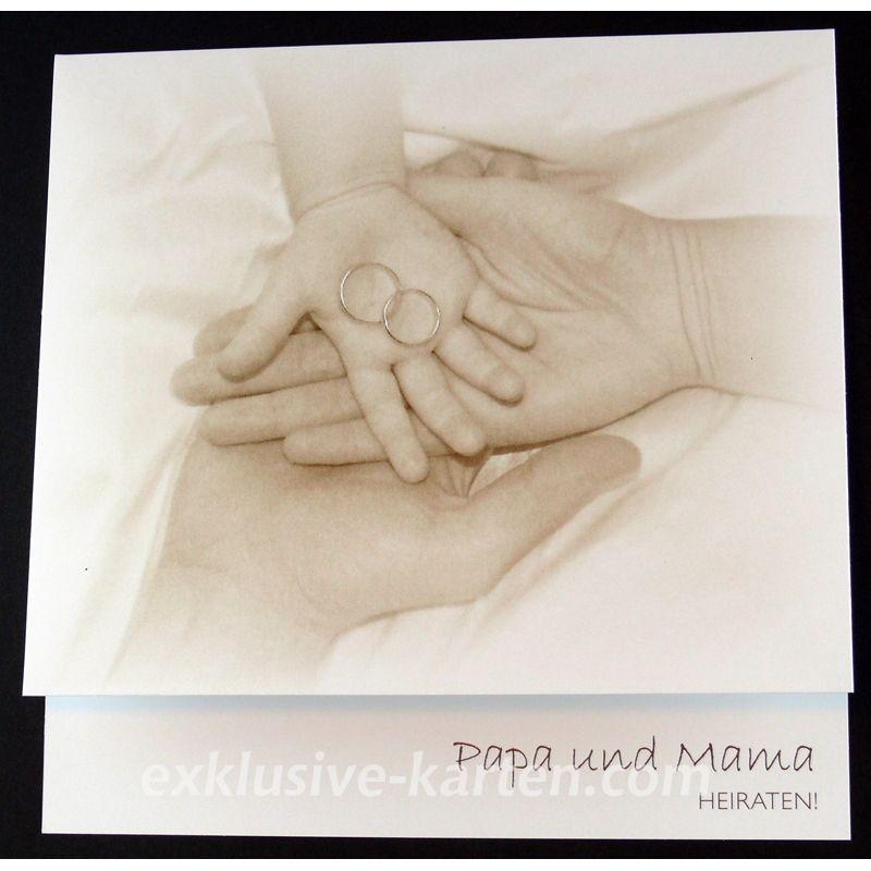 Hochzeitskarten Mama Und Papa Heiraten | Mama U0026 Papa, 1,60 U20ac