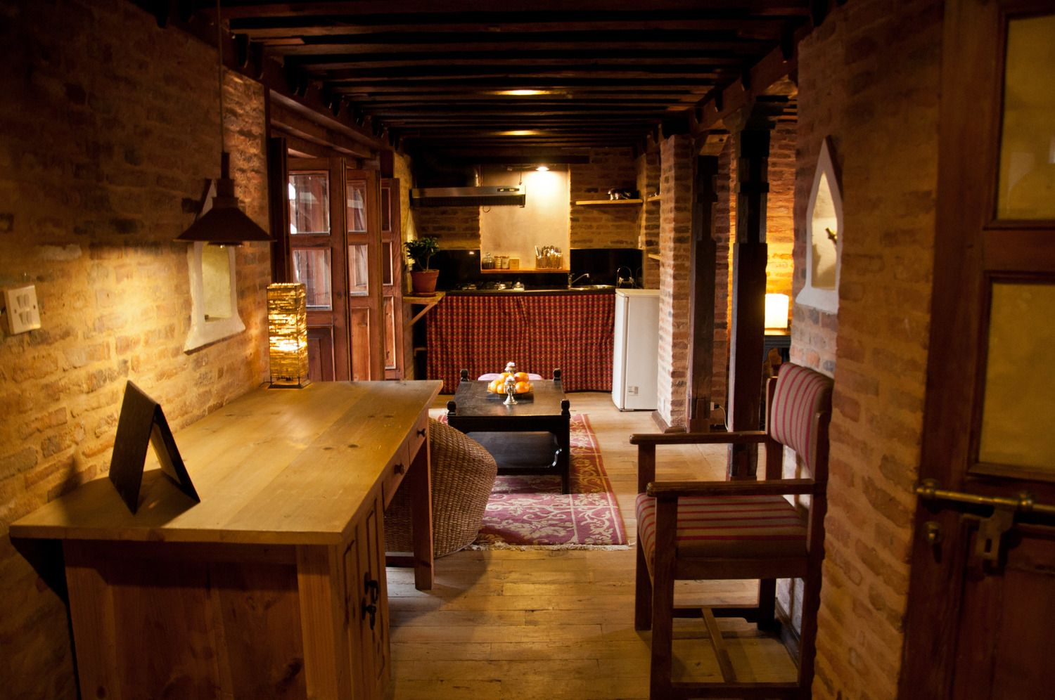 typical newari flat with comfortable working space and well equipped